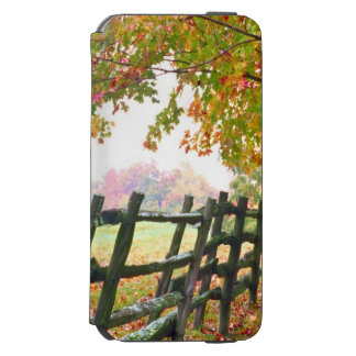 USA, Vermont. Fence under fall foliage. Incipio Watson™ iPhone 6 Wallet Case