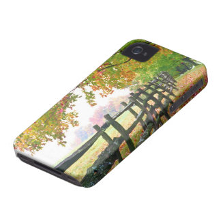 USA, Vermont. Fence under fall foliage. iPhone 4 Case