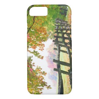 USA, Vermont. Fence under fall foliage. iPhone 7 Case