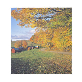 USA, Vermont, Jenne Farm. Fall comes to Jenne Notepad