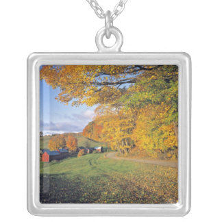 USA, Vermont, Jenne Farm. Fall comes to Jenne Silver Plated Necklace
