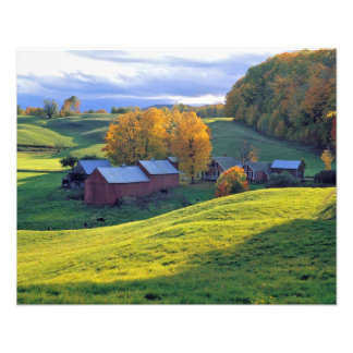 USA, Vermont, Jenne Farm. Rolling green hills Photographic Print