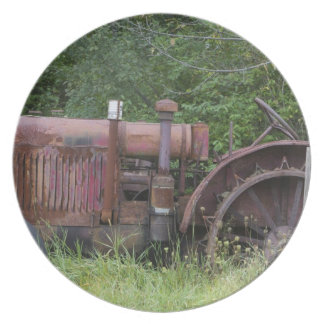 USA, Vermont, MANCHESTER: Antique Farm Tractor Plate