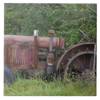 USA, Vermont, MANCHESTER: Antique Farm Tractor Tile