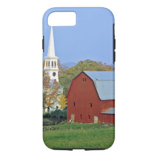 USA, Vermont, Peacham. A red barn and white iPhone 8/7 Case