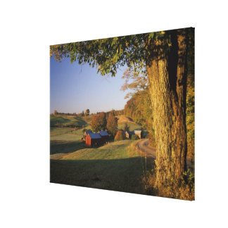 USA, Vermont, south Woodstock, Jenne Farm at Stretched Canvas Prints