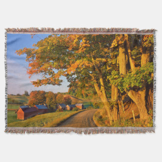 USA, Vermont, South Woodstock Throw Blanket