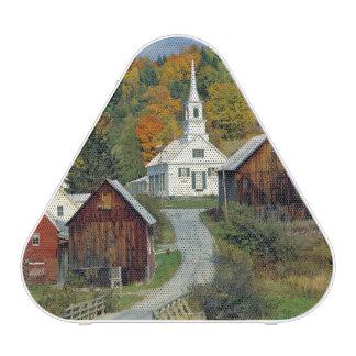 USA, Vermont, Waits River. Fall foliage adds