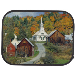 USA, Vermont, Waits River. Fall foliage adds Car Mat