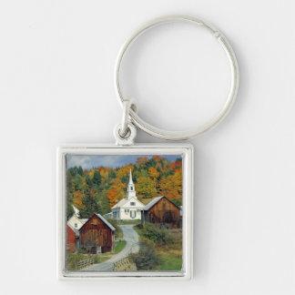 USA, Vermont, Waits River. Fall foliage adds Key Ring