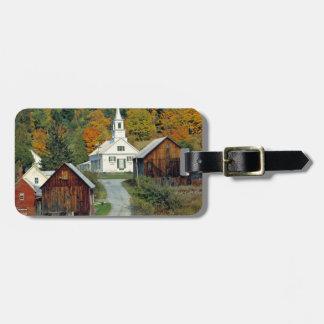 USA, Vermont, Waits River. Fall foliage adds Luggage Tag