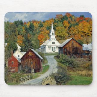 USA, Vermont, Waits River. Fall foliage adds Mousepads