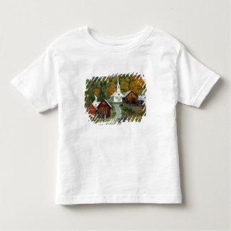 USA, Vermont, Waits River. Fall foliage adds Tshirts