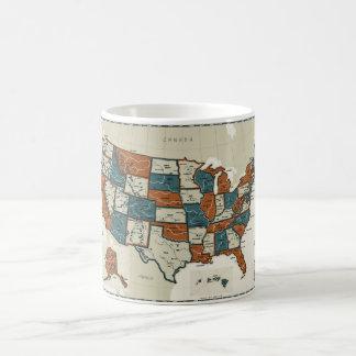 USA - Vintage Map Coffee Mugs