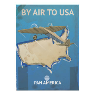 USA Vintage Travel Poster