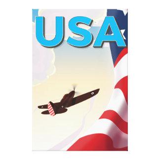 USA Vintage World War Two Poster Canvas Print