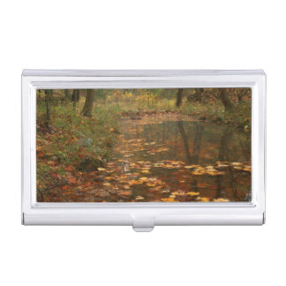 USA, Virginia, Autumn In Douthat State Park Business Card Holder