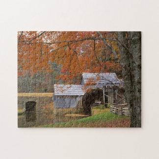 USA, Virginia, Blue Ridge Parkway, Autumn Jigsaw Puzzle