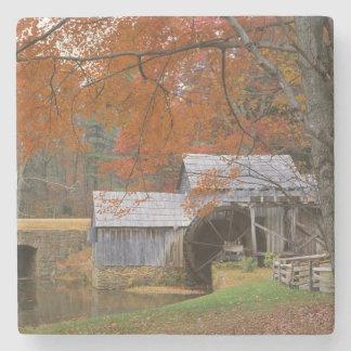 USA, Virginia, Blue Ridge Parkway, Autumn Stone Coaster