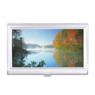 USA, Virginia, Fairy Stone State Park Business Card Holder