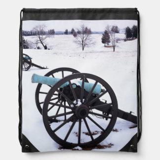 USA, Virginia, Manassas National Battlefield Drawstring Bag