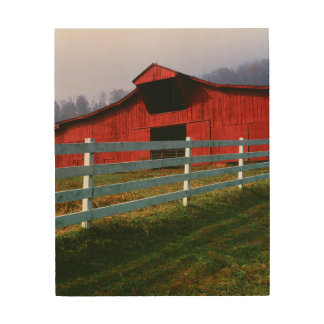 USA, Virginia, Scott County. Red Barn Wood Wall Art