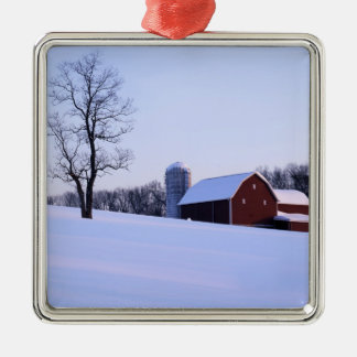 USA, Virginia, Shenandoah Valley, Barn Christmas Ornament