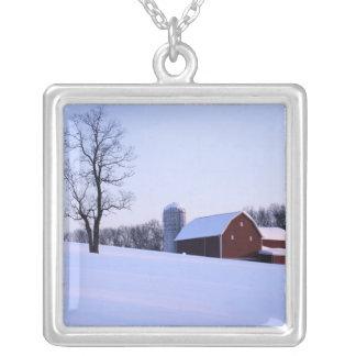 USA, Virginia, Shenandoah Valley, Barn Silver Plated Necklace