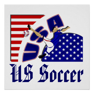 USA volley soccer lovers US soccer team gifts Poster