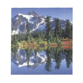 USA, WA, Heather Meadows RA. Mount Shuksan at Notepad