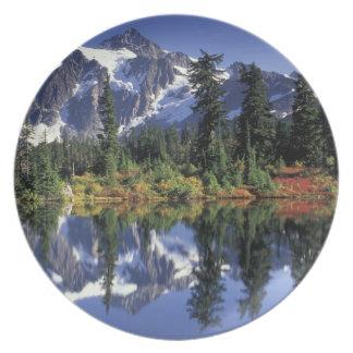 USA, WA, Heather Meadows RA. Mount Shuksan at Plate