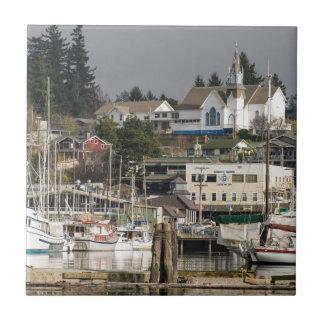 USA, Wa, Kitsap Peninsula. Scenic Town. Tile
