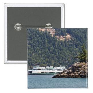USA, WA. Washington State Ferries 15 Cm Square Badge
