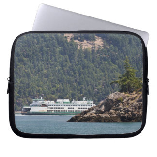 USA, WA. Washington State Ferries Laptop Sleeve