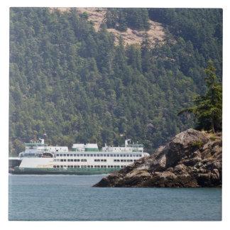 USA, WA. Washington State Ferries Large Square Tile