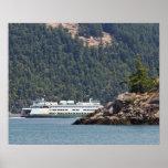 USA, WA. Washington State Ferries Poster