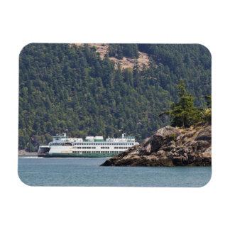 USA, WA. Washington State Ferries Rectangular Photo Magnet