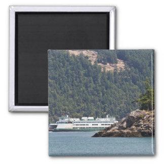 USA, WA. Washington State Ferries Square Magnet