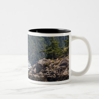 USA, WA. Washington State Ferries Two-Tone Coffee Mug