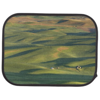 USA, WA, Whitman Co., Palouse Farm Fields From Car Mat