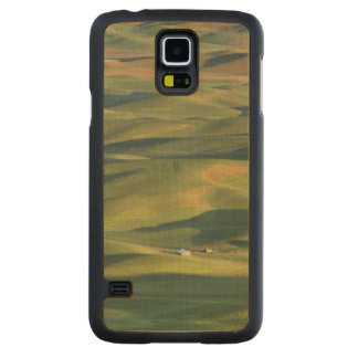 USA, WA, Whitman Co., Palouse Farm Fields From Carved Maple Galaxy S5 Case