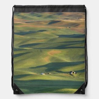 USA, WA, Whitman Co., Palouse Farm Fields From Drawstring Bag