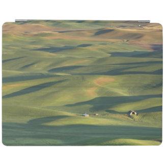 USA, WA, Whitman Co., Palouse Farm Fields From iPad Cover