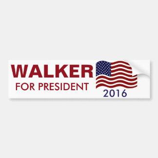 USA WALKER FOR PRESIDENT 2016 BUMPER STICKER