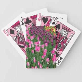 USA, Washington. Blooming Tulips Bicycle Playing Cards