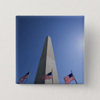 USA, Washington, D.C. American flags at the 15 Cm Square Badge
