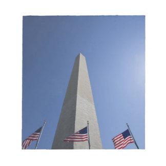 USA, Washington, D.C. American flags at the Notepad