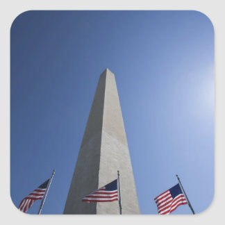 USA, Washington, D.C. American flags at the Square Sticker