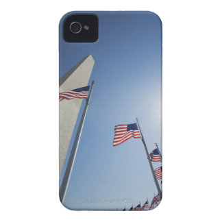 USA, Washington, D.C. American flags surround Case-Mate iPhone 4 Cases