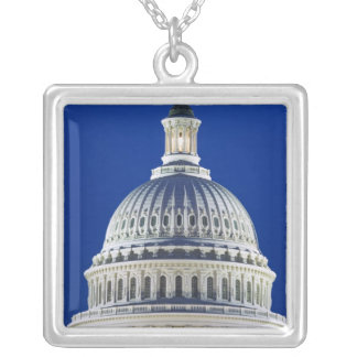 USA, Washington, D.C. Close-up of the Capitol Silver Plated Necklace